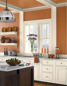 Should you paint your walls a dark color. Not only is the paint and primer duo affordable but it also contains zero volatile organic compounds or vocs aka. Best Kitchen Paint Colors Color Suggestions For Your Ideas Kitchen Paint Colors With White Cabinets Office Pdx Kitchen Cool Most Popular Kitchen Colors Grey Kitchen Walls Most […] Paint For Kitchen Walls, Kitchen Wall Colors, Tuscan Style, Kitchen Wall, Tuscan Paint Colors, Kitchen Paint Colors, Orange Kitchen Walls, Kitchen Design, Kitchen Paint