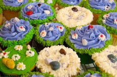 Fairy Garden Cupcakes - kristensays