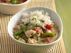 Thai-Style Coconut Chicken. Added a bit of corn starch to thicken, plus extra lime juice & soy sauce. Really good!