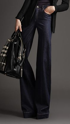 Burberry helmdon indigo wide leg jeans Good looking when you need a dresser pair of jeans