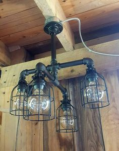 industrial lighting rustic chandelier iron by