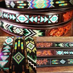 Custom handmade bead belts leather by TCS Americas. Don't forget to follow us on Facebook, Pinterest, and Instagram!