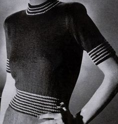 Classic Pullover knit pattern from Jack Frost Sweaters, Volume 52, in 1951.