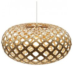 Kina Natural Pendant by David Trubridge ~Named after the Maori word for a local sea-urchin in New Zealand, the design of the Kina Natural Pendant was inspired by the surface patterns made by the spines on the urchin's shell. This lovely fixture would add drama and beauty to the simplest living or dining room.