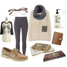 Book Worm by sagemb on Polyvore #geek #reading #neutrals