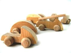 Wooden toy cars Set of 10 eco wooden cars Toddler by beigebois