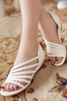 2015 New Women s Sandals Summer Fashion Sweet Dress sandals hollow low heel shoes lady casual Shoes Flats Sandals, Low Heel Shoes, Dress Sandals, Low Heels, Leather Sandals, Shoe Boots, Flat Sandals, Women's Shoes, Gold Flats