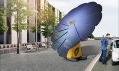 The smartflower POP system sprouts at sunrises, fans out its solar petals, cleans itself, and then generates 40 percent more clean energy than traditional solar power systems.
