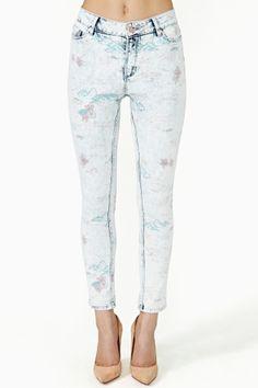 Run Down Art Skinny Jeans