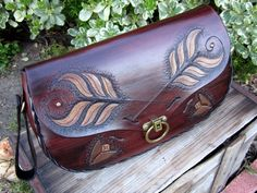 Arrows of Truth....Handmade Tooled Leather by ContrivedtoCharm