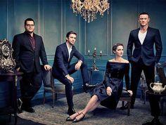 Josh Gad, Dan Stevens, Emma Watson and Luke Evans. Beautiful cast of Beauty and the Beast.