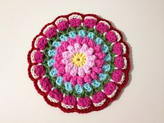 Bobbly Flower Mandala by Mad Blanketer Bobbly Flower transformed into Mandala! Done in simple and basic crochet stitches, the pattern should work up fairly quickly.