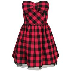 Plaid Party Dress ($23) ❤ liked on Polyvore featuring dresses, vestidos, red, short dresses, casual, short red dress, strapless cocktail dresses, short strapless dresses, short red cocktail dress and mini party dresses