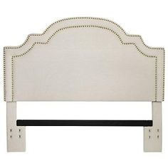Stone Masters Basler Really like the shape on this one. Linen Nailhead Full/Queen Headboard at Big Lots. Furniture, Furniture Clearance, Linen Headboard, Faux Headboard, 2nd Hand Furniture, Headboard Decor, Leather Bed Headboard, Bedroom Items, Headboard