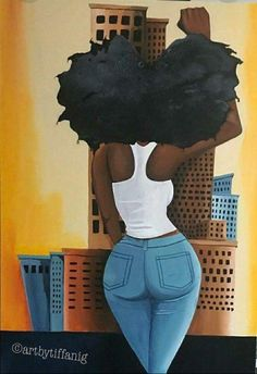 Black Art is Beautiful Black Love Art, Black Girl Art, My Black Is Beautiful, Black Girl Magic, Black Girls, Art Girl, Black Women, Black Art Painting, Black Artwork