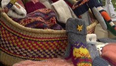 Make your own recycled mittens from an old wool sweater felted in the washing machine.