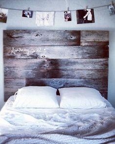 Bed, wooden headboard Awake my soul