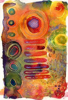 watercolour postcard 2 by juju loves polka dots, via Flickr