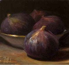 This beautifully soft and luminous small painting by Provence-based artist Julian Merrow-Smith captures that moment the figs are on the poi...