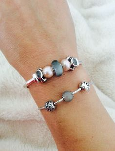 Trollbeads Pearls and Pandora Moonstones