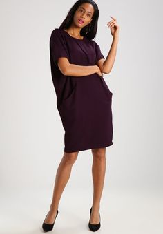 Sukienka letnia - dark aubergine Cold Shoulder Dress, Dresses, Fashion, Purple Colors, Types Of Dresses, Casual, Women, Clothing, Vestidos
