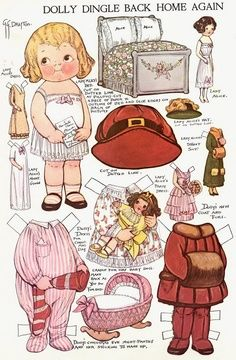 I love paper dolls with their own paper dolls