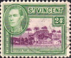 St Vincent 1949 King George VI SG 171 Fine Used SG 172 Scott 164 Other West Indies Stamps British Commonwealth empire colonial stamp stamps here