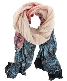 #Fashion #Paisley Design #Lightweight #Shawl #Wrap Long Scarf In Nude Pink