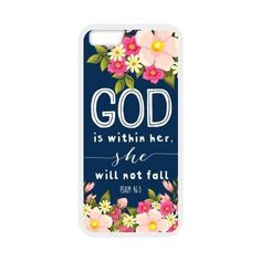 Amazon.com: Hot selling - PSALM 46;5 God is Within Her,She Will not Fall - Bible Verse iPhone 6 4.7 (Laser Technology) Case: Electronics