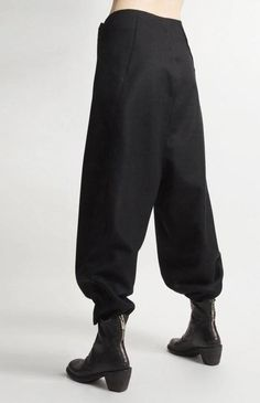 Futuristic Original Ofelya Women's Wool Pants / Casual Harem Pants with Low Crotch – Large Carrot Pants with Hanging Crotch Collapse - altering pants Womens Wool Pants, Pants For Women, Altering Pants, Vetements Clothing, Harem Pants, Trousers, Women's Pants, Cool Outfits, Fashion Outfits