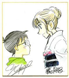 Detective Conan x Chihayafuru artist sketch crossover