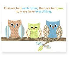 First we had each other quote owl nursery by SweetPeaNurseryArt, $15.00