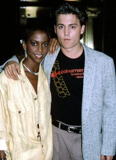 '21 Jump Street' (1987)  Johnny Depp with his 21 Jump Street co-star Holly Robinson in 1987.