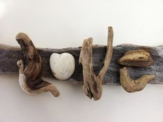 Crafts Made From Driftwood | driftwood art love driftwood art handmade by doctordriftwood com an ...