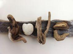 Crafts Made From Driftwood | driftwood art love driftwood art handmade by doctordriftwood com an ...