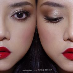 Garnet lipgloss, Peridot eyeliner. A sprinkling of simple glamor with different textures on lids, cheeks and lips!