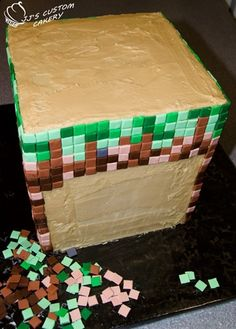 Minecraft Cake – how to make one! | Pinterest Most Wanted