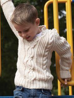 Preppy Pullover | Yarn | Free Knitting Patterns | Crochet Patterns | Yarnspirations