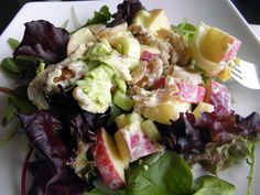 Curried Chicken Waldorf Salad - Low in fat!  Perfect recipe for crisp fall apples!