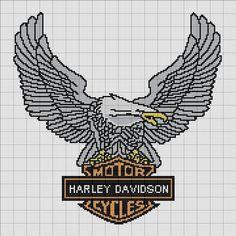 Carrie's Cross Stitch Message Board: Re: Harley Davidson Eagle Cross Stitch Bird, Beaded Cross Stitch, Crochet Cross, Crochet Chart, Counted Cross Stitch Patterns, Cross Stitch Charts, Cross Stitching, Cross Stitch Embroidery, Embroidery Patterns
