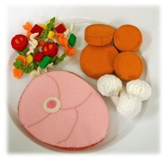 Fieltro de lana Merino natural alimentos juego al por EvaLauryn