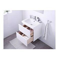 GODMORGON / ODENSVIK Kommod med 2 lådor, vit högglans vit - 60x49x64 cm - IKEA