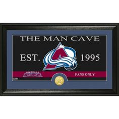 "Colorado Avalanche ""Man Cave"" Panoramic Coin Photo Mint"