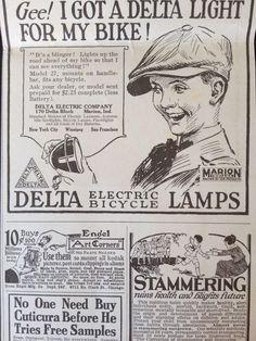 Antique ORIGINAL1922 Print Ad A2 Delta Electric Bicycle Lamps | eBay