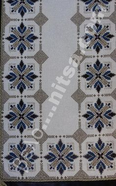 Table runner, simple design but the fabric gives it that sparkle. Hand Embroidery Design Patterns, Beaded Embroidery, Cross Stitch Embroidery, Cross Stitching, Cross Stitch Designs, Cross Stitch Patterns, Swedish Weaving Patterns, Palestinian Embroidery, Cross Stitch Boards