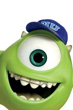 Mike Wazowski from Monster's University always wears his retainer! #MU