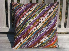 """Ghanaian Print - 18"""" x 18"""" Decorative Batik Throw Pillow Cover - Our Talking Hands - Supporting the Deaf in Ghana. $25.00, via Etsy."""