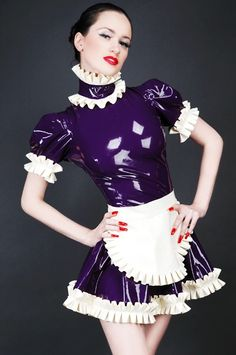 Purple Latex French Maid <--- so pretty!