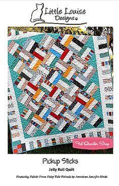 Pickup Sticks Quilt Pattern Little Louise Designs - Fat Quarter Shop