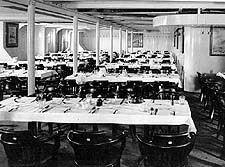 Third class dinning room on the Titantic